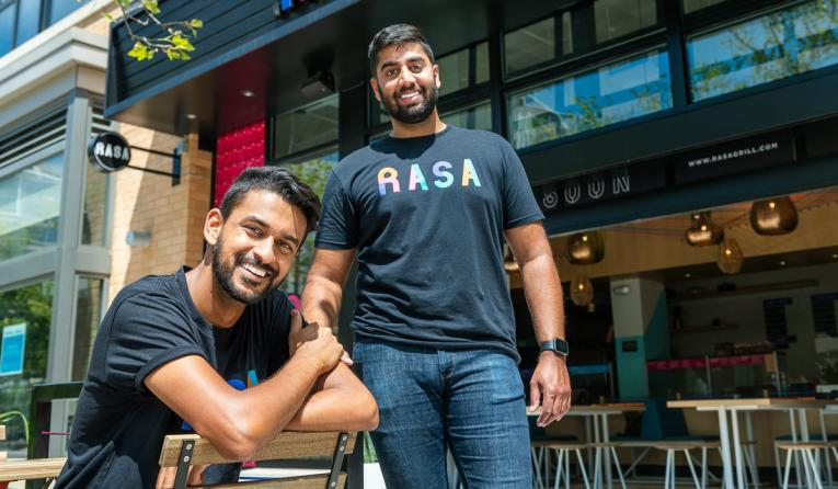Rasa founders pose for a photo.