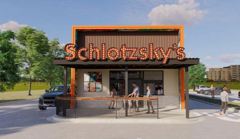 Schlotzsky's drive-thru rendering.