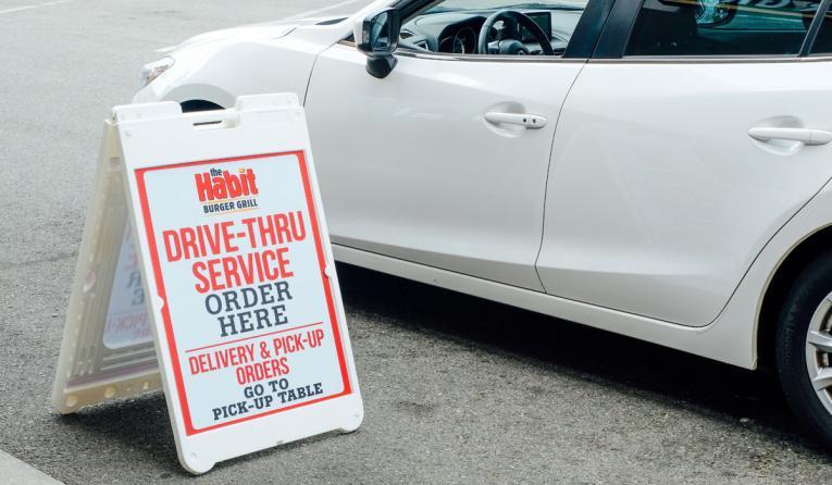 The Habit drive-thru sign.