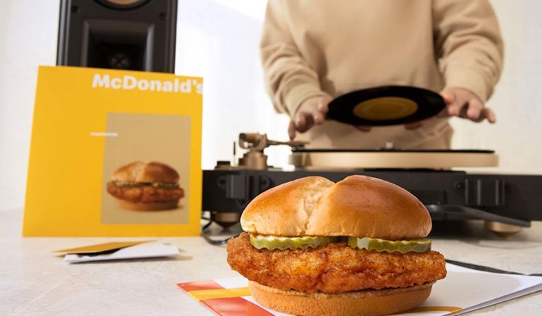 McDonald's crispy chicken sandwich.