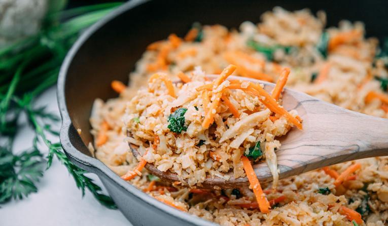 BIBIBOP Asian Grill Cauliflower rice.