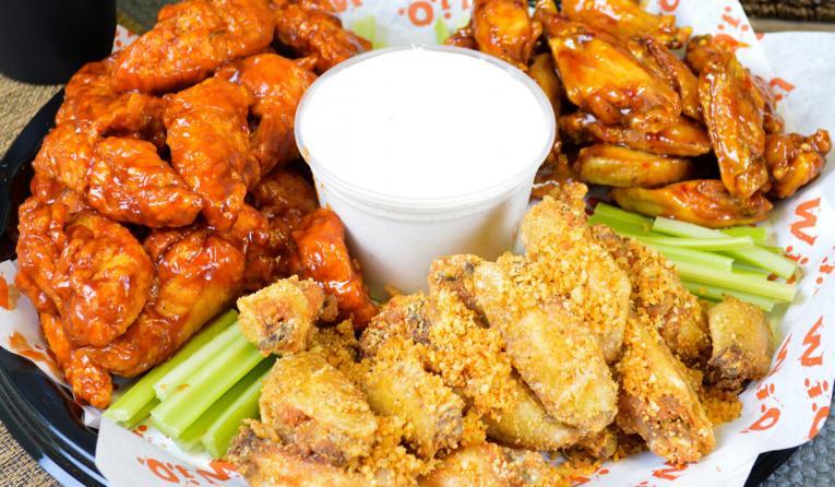Wing It On! platter of wings.