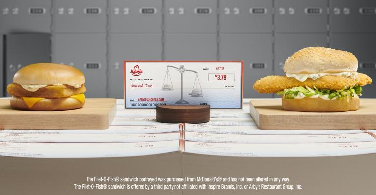 Arby's fish sandwich campaign.