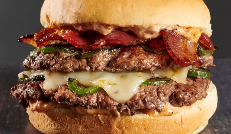 BurgerFi SWAG burger.