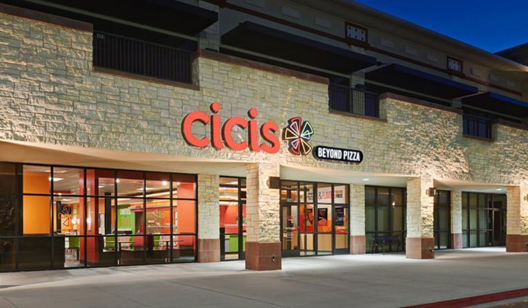 Cicis exterior of building.