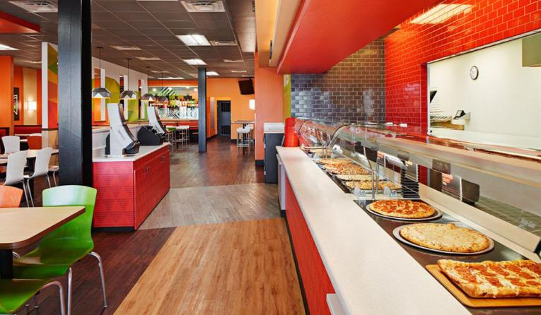 CiCi's Pizza interior of restaurant.