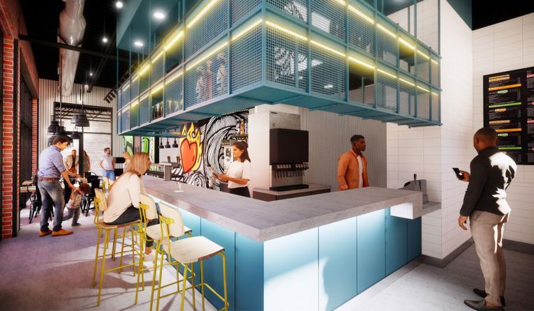 Fuzzy's Taco Shop Taqueria renderings.