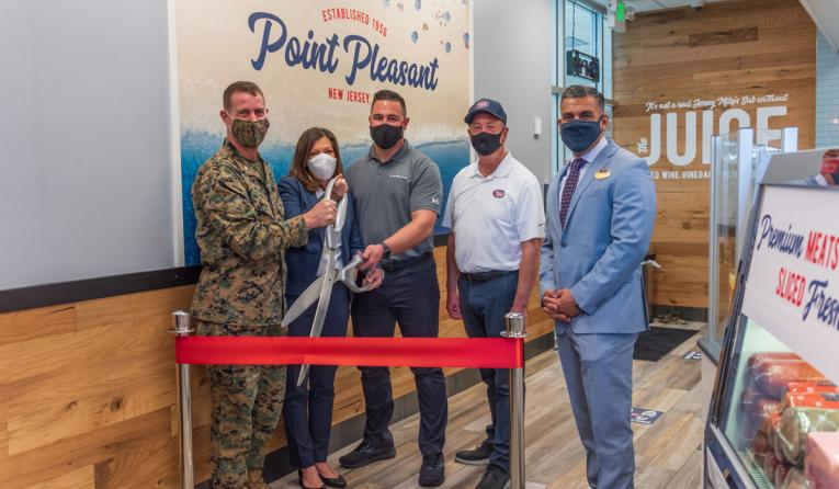 Jersey Mike's ribbon-cutting ceremony at a new location.