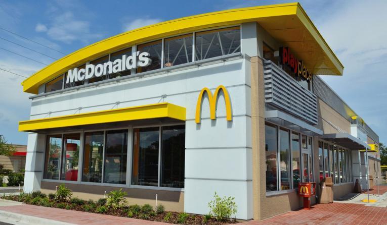 Exterior of a McDonald's restaurant.