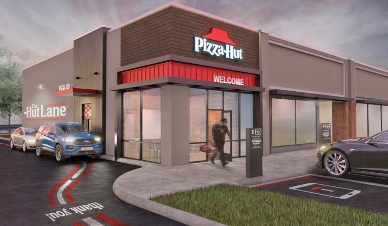 Pizza Hut Hut Lane rendering.