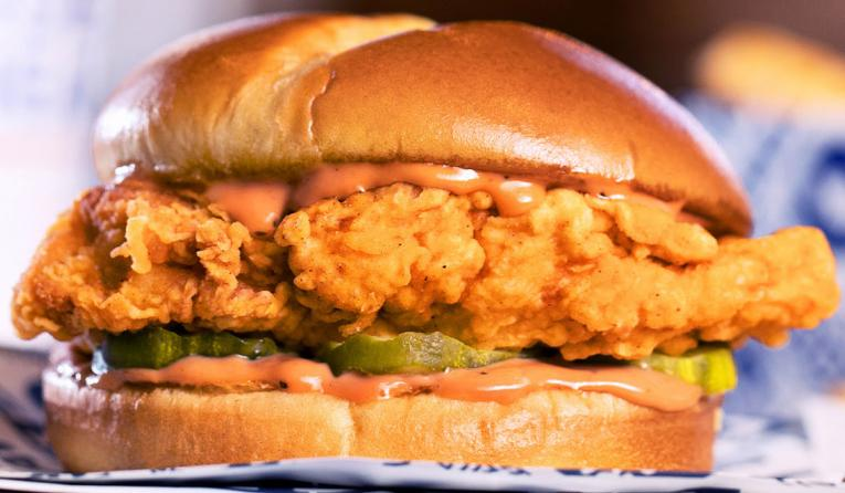 Zaxby's Signature Chicken Sandwich.