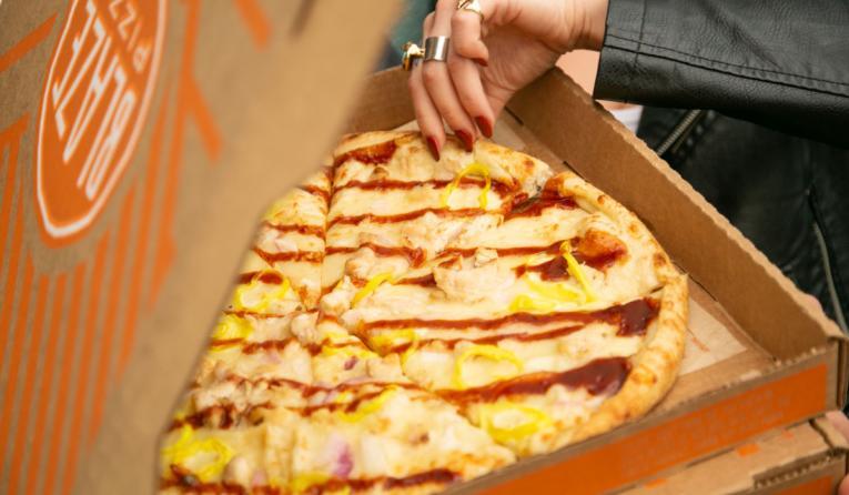 Blaze Pizza in a box.