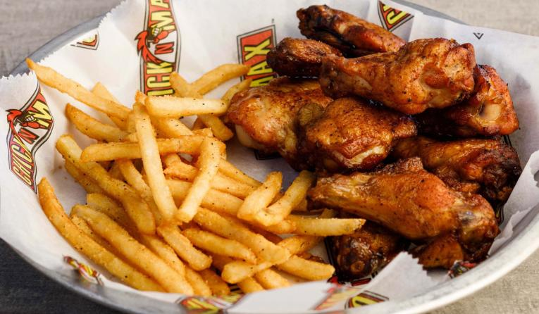 Chick N Max wings and sandwich.