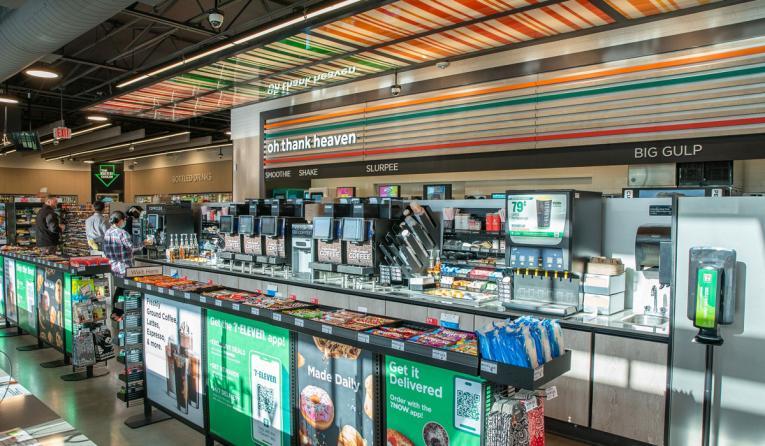 7-Eleven store interior.