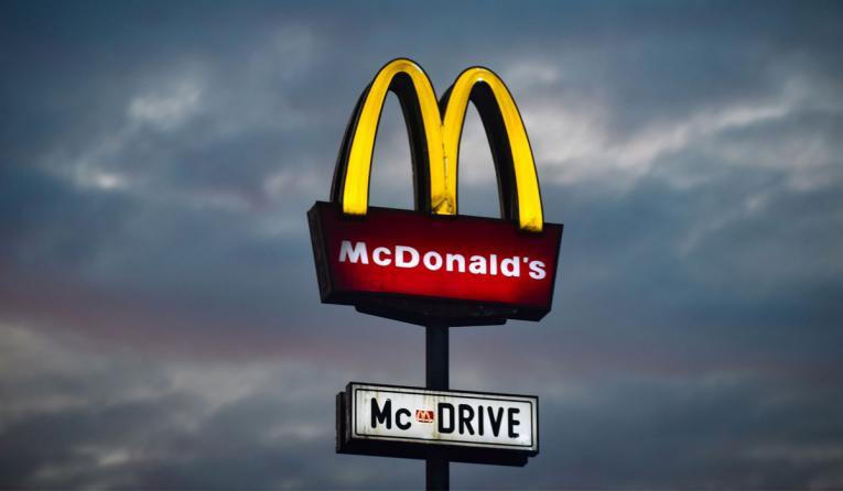 McDonald's golden arches.
