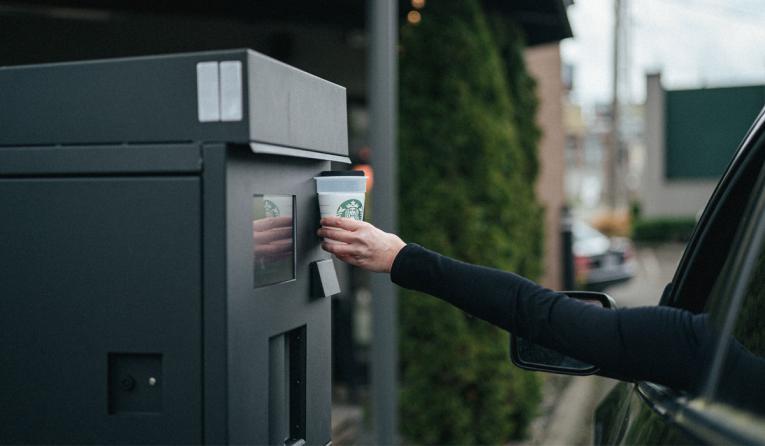 Starbucks machine.