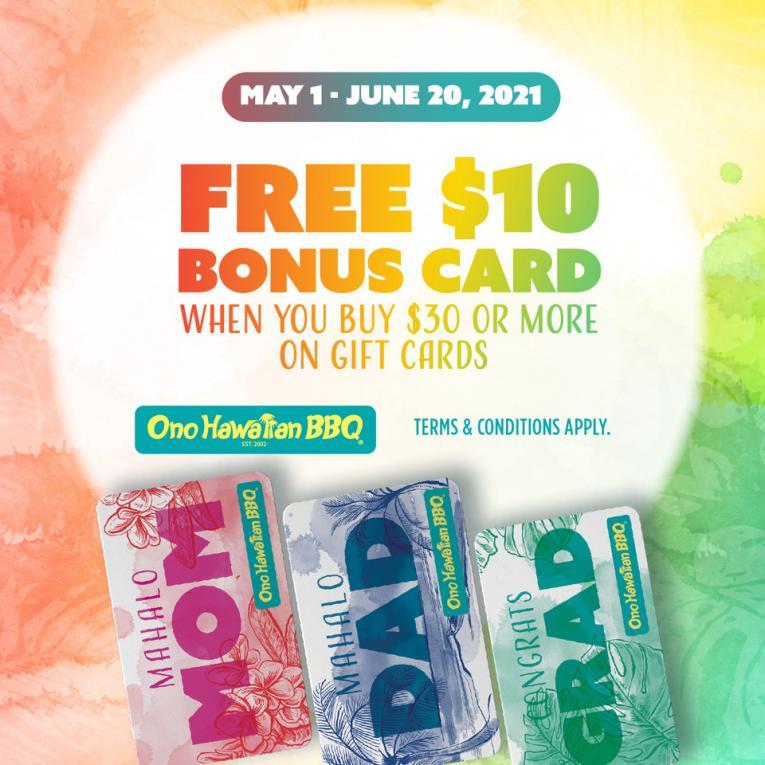 Ono Hawaiian BBQ Bonus Card Program