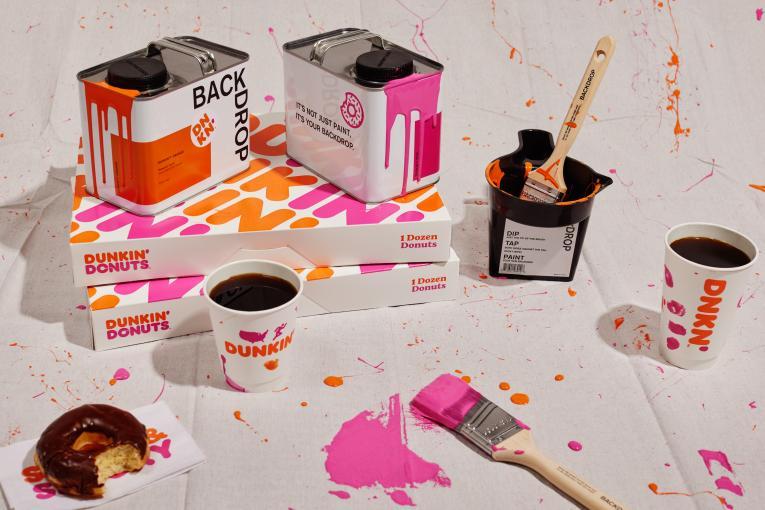 Dunkin' paint.