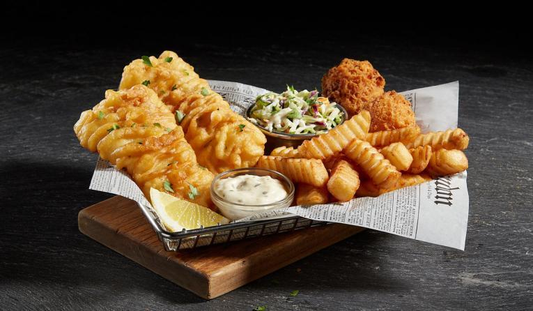 Arthur Treacher's fish and chips.
