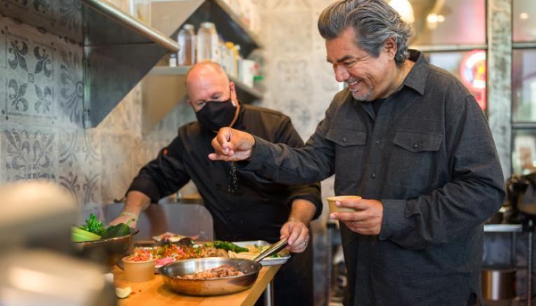 Nextbite and George Lopez.