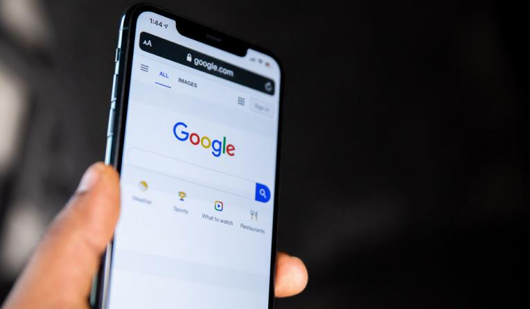 Google on a phone.