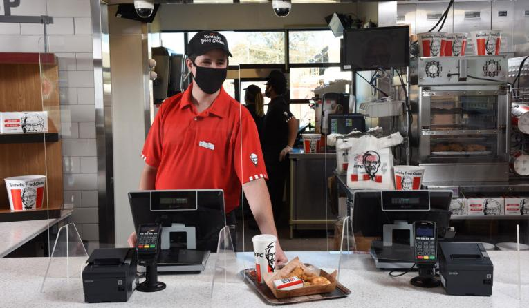 KFC employee.