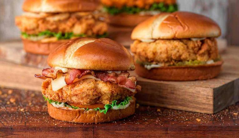 Slim Chickens craft sandwiches.