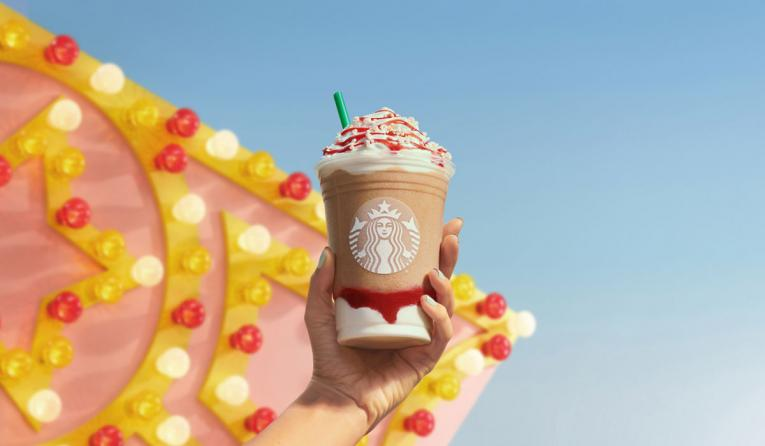 Starbucks Strawberry Funnel Cake Frappuccino.