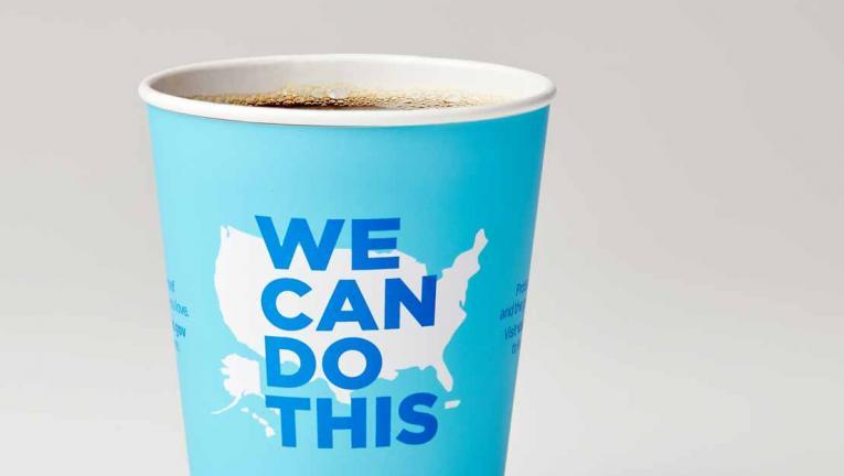 McDonald's McCafe cup.