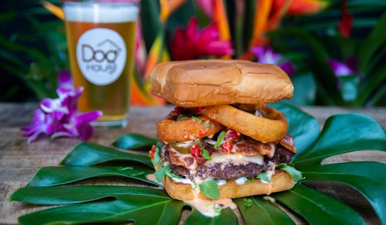 Dog Haus Hawaiian burger