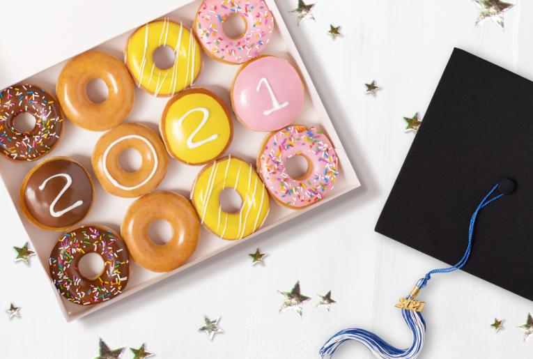 Krispy Kreme Graduate Dozen.