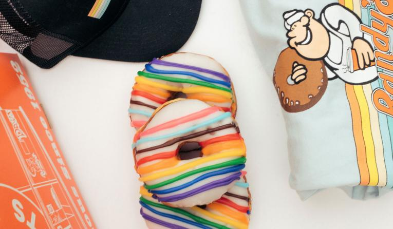 Randy's Donuts Pride Month items