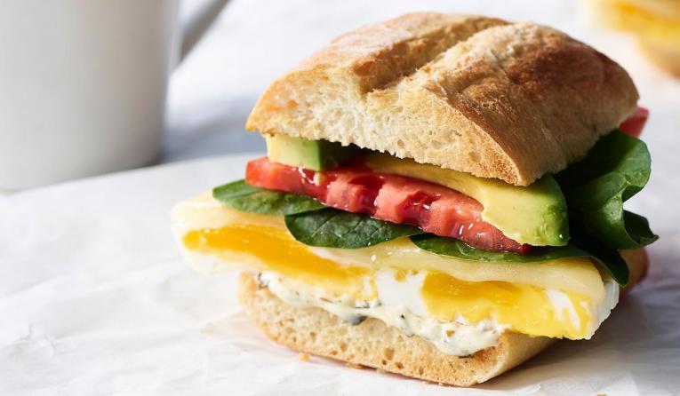 Au Bon Pain sandwich.