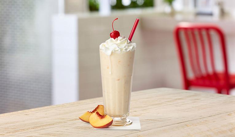 Chick-fil-A Peach Milkshake.