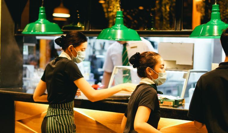 Restaurant workers.