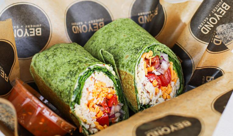 Beyond Juicery + Eatery wraps