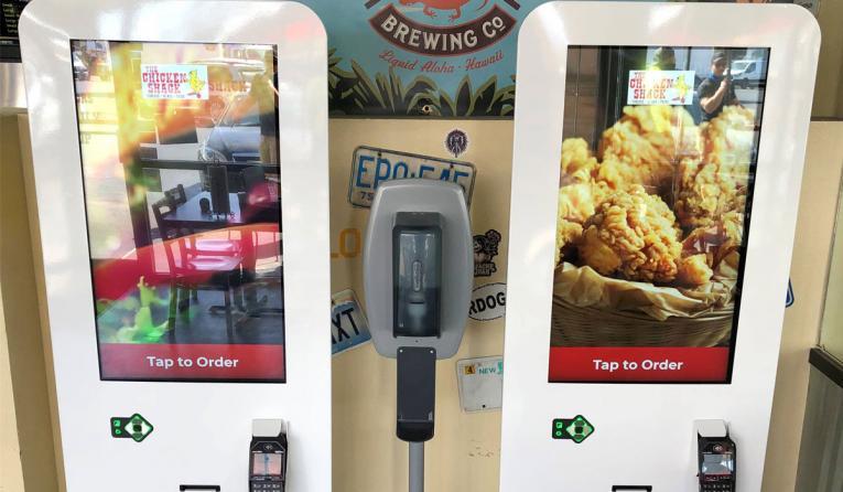 Chicken Shack kiosks