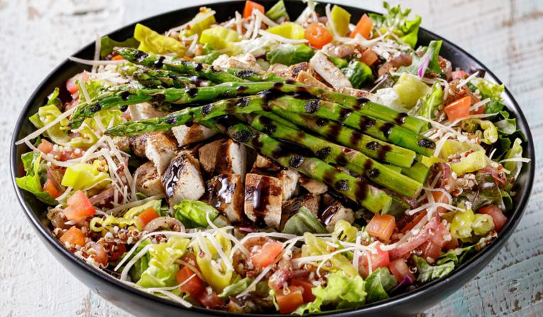 The Habit Burger Grill Balsalmic Grilled Chicken and Asparagus Salad