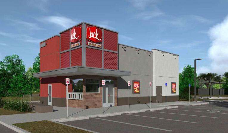 Jack in the Box drive-thru only rendering