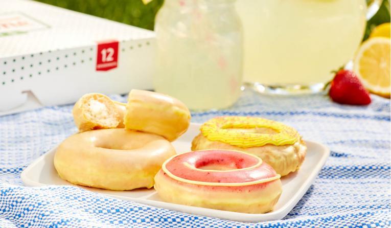 Krispy Kreme lemonade glaze