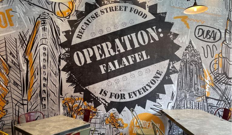 Operation: Falafel wall design