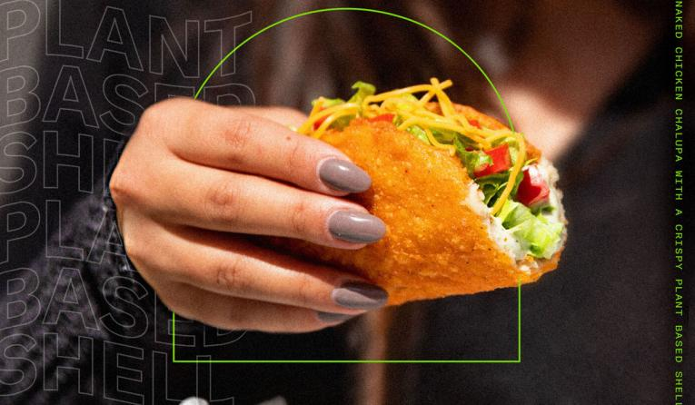 Taco Bell Naked Chalupa with plant-based shell