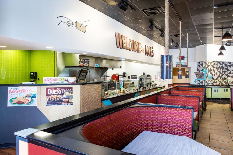 Moe's Southwest Grill interior.