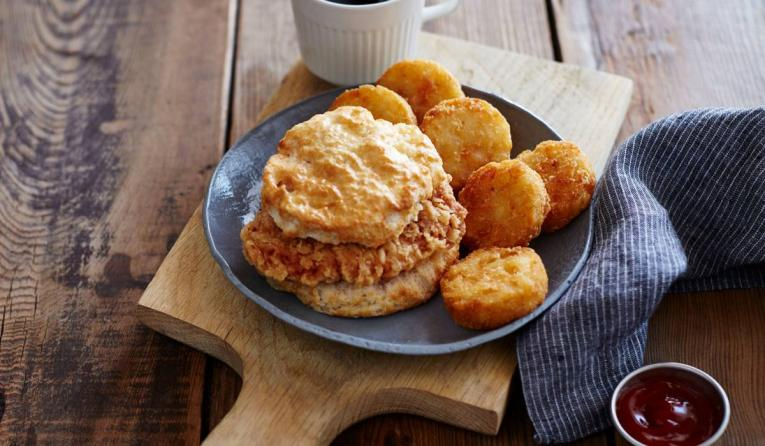 Bojangles biscuit and hashbrowns