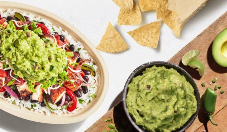Chipotle free guac on National Avocado Day