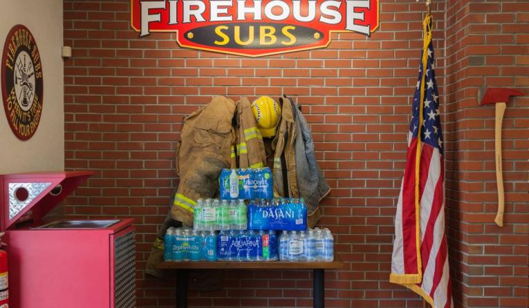 Firehouse Subs bottled water