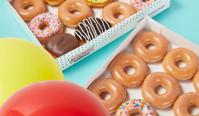 Krispy Kreme Birthday donuts