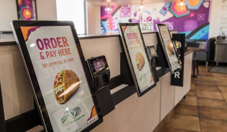 Taco Bell kiosks