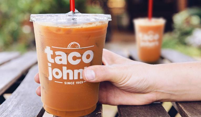 Taco John's coffee cup