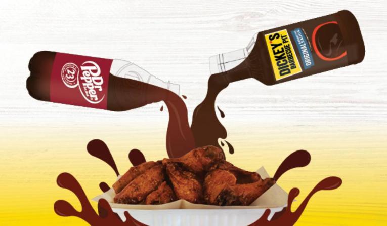 Wing Boss Dr Pepper sauce wings